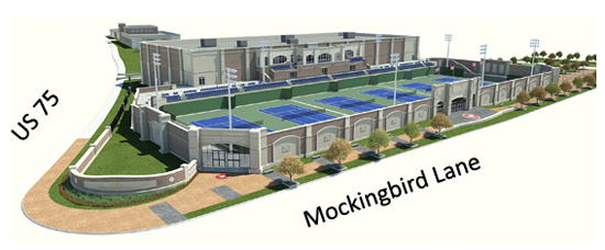 Rendering of SMU Tennis center