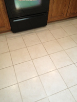 Floor tile with thick grout joints