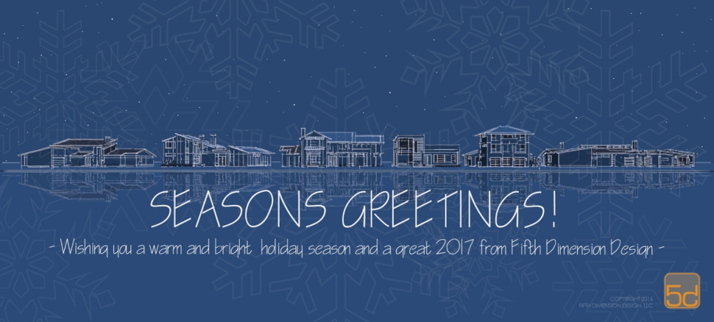 2016 Seasons Greetings card from Fifth Dimension Design