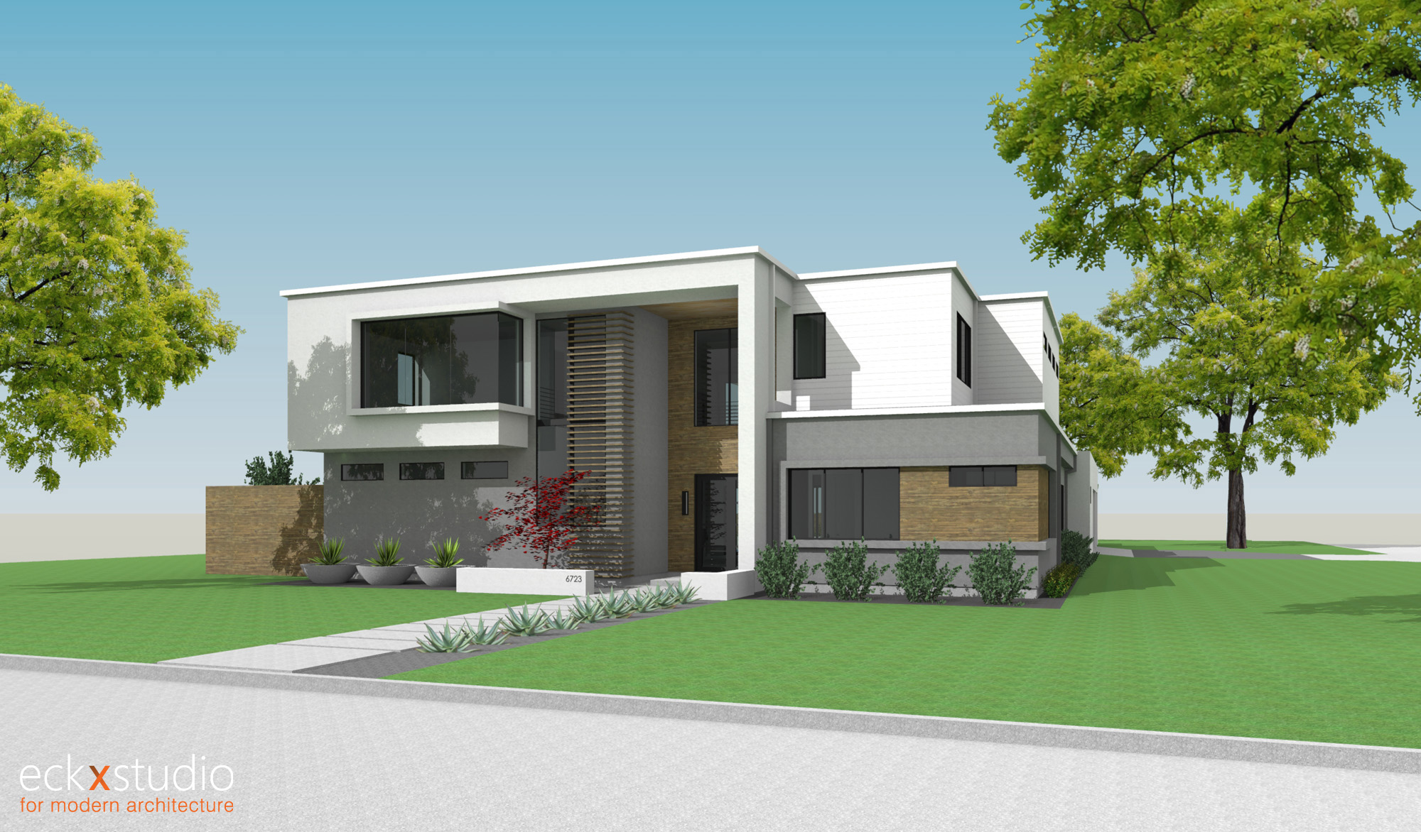 Oriole residence front elevation image