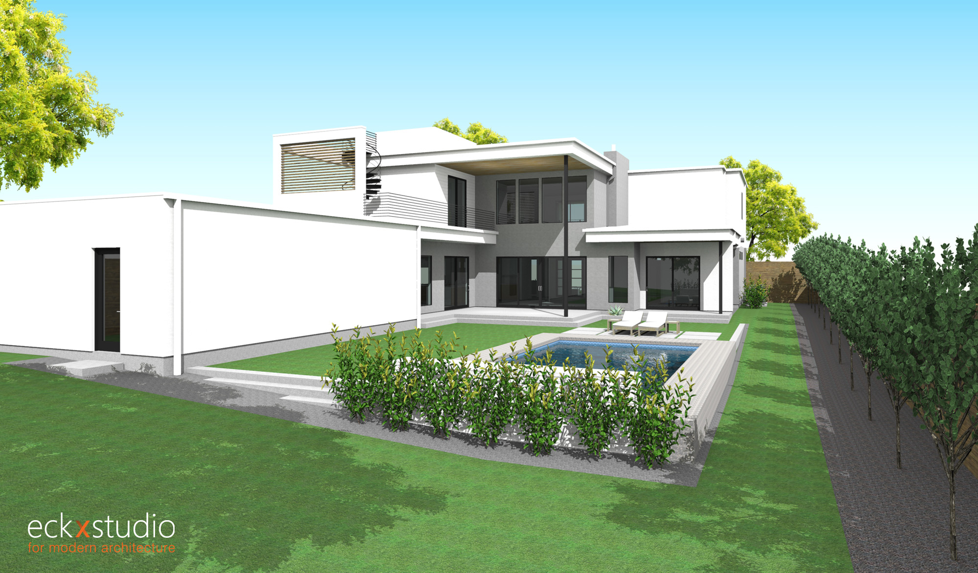 Oriole residence rear elevation image