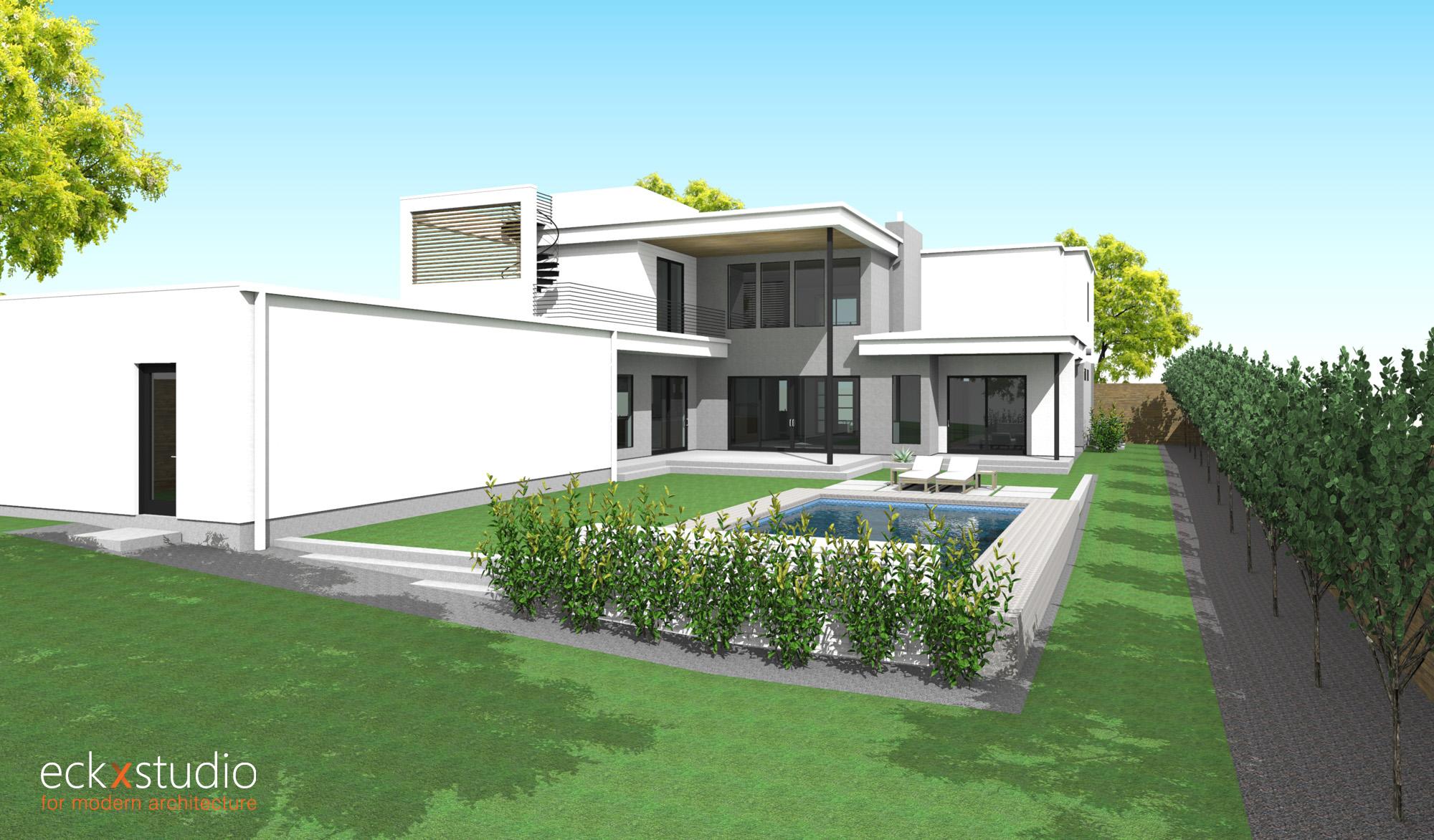 Oriole residence rear elevation image